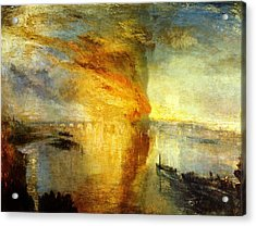 The Burning Of The Houses Of Lords And Commons Acrylic Print