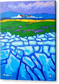 The Burren County Clare Ireland Acrylic Print by John  Nolan
