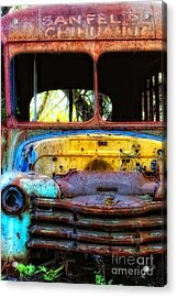 The Bus Stops Here Acrylic Print by Erika Weber