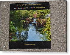 The Butchart Gardens - Photos By Lawrence Christopher Acrylic Print