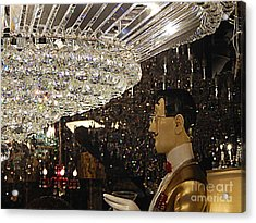 The Butler And The Chandelier In The French Quarter  New Orleans Louisiana Acrylic Print by Michael Hoard