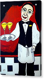 Acrylic Print featuring the painting The Butler  by Nora Shepley