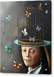 The Butterfly Keeper 1 Acrylic Print by Leah Saulnier The Painting Maniac