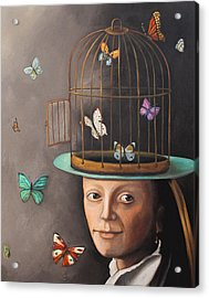 The Butterfly Keeper Edit 2 Acrylic Print by Leah Saulnier The Painting Maniac