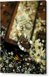 The Button Drawer Acrylic Print by Rebecca Sherman