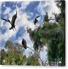 Acrylic Print featuring the digital art The Buzzard Tree by Rhonda Strickland