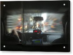 The Cab Ride Acrylic Print by Mike McGlothlen