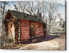 The Cabin Acrylic Print by Ernie Echols