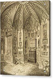 The Cabinet, Engraved By T. Morris Acrylic Print by English School