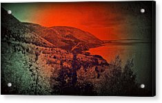 Acrylic Print featuring the digital art The Cabot Trail by Jason Lees