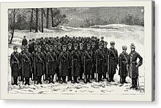 The Cadets In Winter -costume, British Naval Defences Acrylic Print by Litz Collection