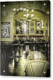 The Cafe Acrylic Print by Janet Meehan