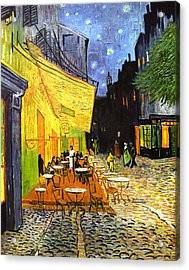 The Cafe Terrace On The Place Du Forum Acrylic Print by Vincent van Gogh
