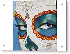 The Calavera Mask Acrylic Print by Teresa Beyer