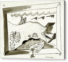 The Caledonian Canal In Scotland Acrylic Print by Ludwig Bemelmans