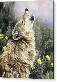 The Call Acrylic Print by Lucie Bilodeau