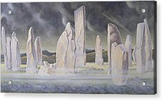 The Callanish Legend Isle Of Lewis Acrylic Print by Evangeline Dickson