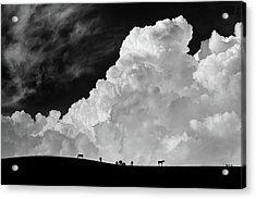 The Calm Before The Storm Acrylic Print by Gloria Salgado Gispert