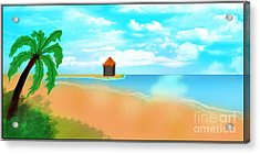 The Calm Coast Acrylic Print by Sheikh Designs