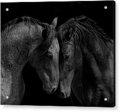 The Calm In Black And White Acrylic Print