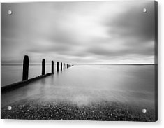 Acrylic Print featuring the photograph The Calm Sea. by Gary Gillette