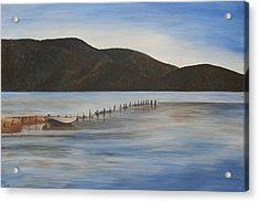 Acrylic Print featuring the painting The Calm Water Of Akyaka by Tracey Harrington-Simpson