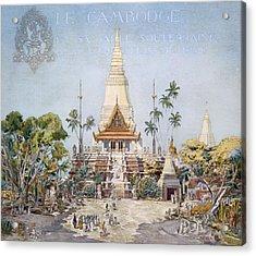 The Cambodian Pavilion, Paris Expo Acrylic Print