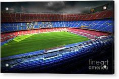 The Camp Nou Stadium In Barcelona Acrylic Print