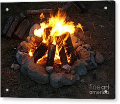 The Campfire Acrylic Print by Boon Mee