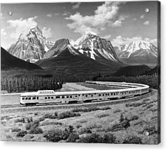 the Canadian Train Acrylic Print by Underwood Archives