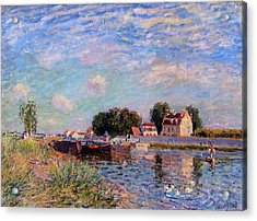 The Canal At Saint-mammes Acrylic Print by Alfred Sisley