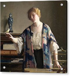 The Canary Acrylic Print by William McGregor Paxson