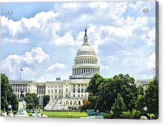 The Capitol Building Acrylic Print by Sandra Welpman