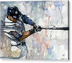 The Captain Derek Jeter Acrylic Print