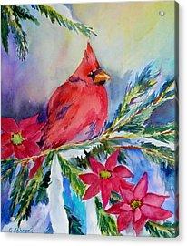 The Cardinal Acrylic Print by Gloria Johnson