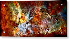The Carina Nebula Acrylic Print by Amanda Struz