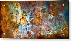 The Carina Nebula - Star Birth In The Extreme Acrylic Print by Marco Oliveira