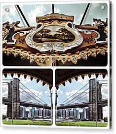The Carousel And The Bridge Acrylic Print