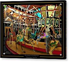 The Carousel At Coolidge Park - Chattanooga Landmark Series - #6 Acrylic Print by Steven Lebron Langston