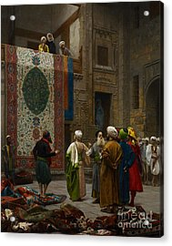 The Carpet Merchant Acrylic Print by Jean Leon Gerome