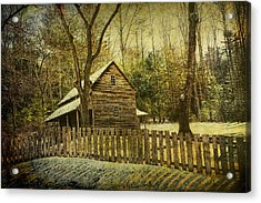 The Carter Shields Cabin In Cades Cove In The Smokey Mountains Acrylic Print by Randall Nyhof