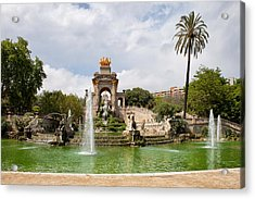 The Cascada In Ciutadella Park In Barcelona Acrylic Print