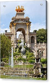 The Cascada In Parc De La Ciutadella In Barcelona Acrylic Print