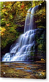 The Cascades Acrylic Print by Darren Fisher