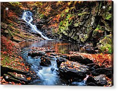 The Cascades Of Chesterfield Gorge Acrylic Print by Thomas Schoeller