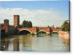 The Castelvecchio Bridge In Verona Acrylic Print by Kiril Stanchev