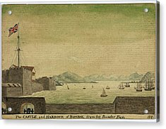 The Castle And Harbour Of Bombay Acrylic Print by British Library