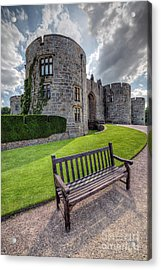 The Castle Bench Acrylic Print by Adrian Evans