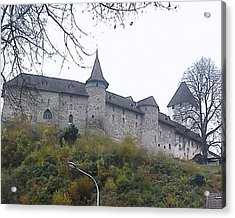 Acrylic Print featuring the photograph The Castle In Autumn by Felicia Tica