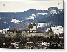 Acrylic Print featuring the photograph The Castle In Winter Look by Felicia Tica